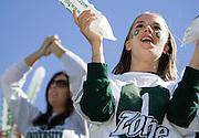 student Kati Sparks at O.U. football team vs. Western Michigan home football game on Saturday, 10/7/06.