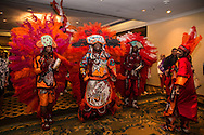 Mardi Gras Indians performing at a convention in New Orleans