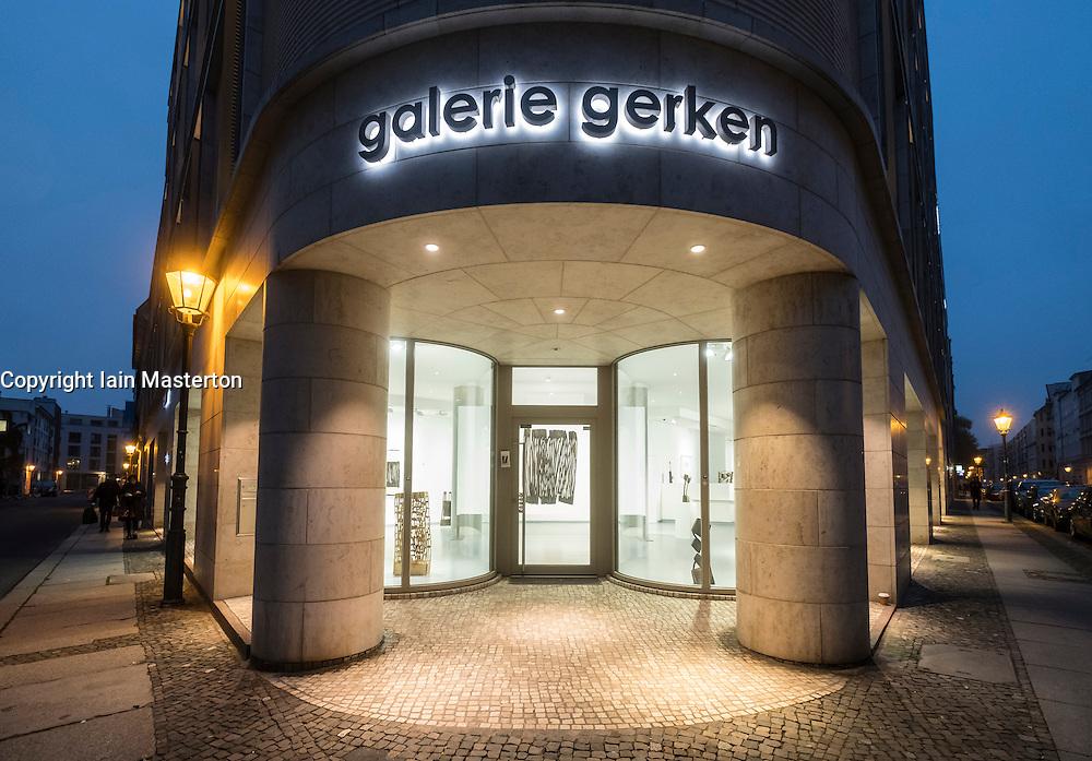 Exterior of Galerie Gerken, art gallery on Linienstrasse, a street with many art galleries in Mitte Berlin Germany
