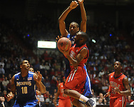 "Mississippi's Chris Warren (12) vs. Memphis's Wesley Witherspoon  in NIT second round basketball action at the C.M. ""Tad"" Smith Coliseum in Oxford, Miss. on Friday, March 19, 2010. Ole Miss won 90-81."