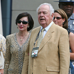 26 August 2006: New Orleans Saints owner Tom Benson walks the sideline prior to kickoff of a NFL preseason game between the Indianapolis Colts against the New Orleans Saints at Veterans Memorial Stadium in Jackson, Mississippi.