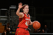 February 13, 2014: Katie Rutan #40 of Maryland in action during the NCAA basketball game between the Miami Hurricanes and the Maryland Terrapins at the Bank United Center in Coral Gables, FL. The Terrapins defeated the Hurricanes 67-52.