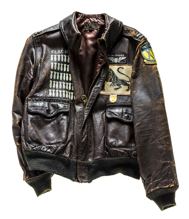 Captain Everett Graves was a B-24 Liberator pilot, and member of the 460th Bomb Group, the Black Panthers.  He flew a total of 50 bomb missions in WWII. Notice the silk lining.  Later jackets had cotton linings.