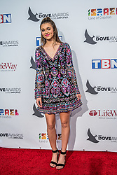 October 11, 2016 - Nashville, Tennessee, USA - Sadie Robertson at the 47th Annual GMA Dove Awards  in Nashville, TN at Allen Arena on the campus of Lipscomb University.  The GMA Dove Awards is an awards show produced by the Gospel Music Association. (Credit Image: © Jason Walle via ZUMA Wire)