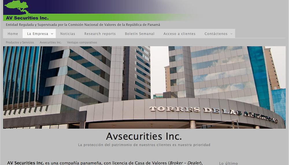 Fotograf&iacute;as para el Website de AV Securities Inc. Panama.<br /> Casa de Valores<br /> http://ww0.avsecurities.com/site/