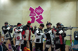 Men's 10m Air Rifle at London 2012 Olympics, Monday, 30th July 2012.  Photo by: i-Images