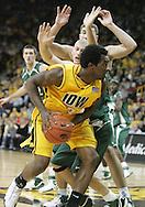 04 JANUARY 2007: Iowa guard Drew Adams (3) tries to shoot around Michigan State guard Drew Neitzel (11) in Iowa's 62-60 win over Michigan State at Carver-Hawkeye Arena in Iowa City, Iowa on January 4, 2007.