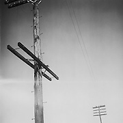 BIRMINGHAM, AL – OCTOBER 30, 2007: Telephone wires stretch over city streets.
