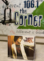 """Matt Wertz and members of his band performed for the Charlottesville-based radio station 106.1FM The Corner on March 29, 2007 in support of his album """"Everything in Between""""."""