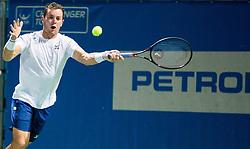 Dominik Koepfer (GER) playing Quarterfinal Singles during Day 7 at ATP Challenger Zavarovalnica Sava Slovenia Open 2018, on August 9, 2018 in Sports centre, Portoroz/Portorose, Slovenia. Photo by Vid Ponikvar / Sportida