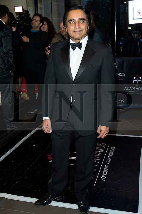 © Licensed to London News Pictures. 08/04/2016. SANJEEV BHASKAR attends The Asian Awards celebrating the best in Asian achievement across business, sport, philanthropy, and popular arts and culture. London, UK. Photo credit: Ray Tang/LNP