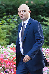 Downing Street, London, September 13th 2016. Communities and Local Government Secretary Sajid Javid arrives for the weekly cabinet meeting at Downing Street.