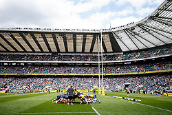 Bath warm up before the match - Photo mandatory by-line: Rogan Thomson/JMP - 07966 386802 - 30/05/2015 - SPORT - RUGBY UNION - London, England - Twickenham Stadium - Bath Rugby v Saracens - 2015 Aviva Premiership Final.