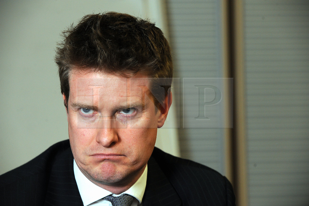 © Licensed to London News Pictures. 19/02/2015<br /> Tristram Hunt talking to the press before his meeting with the Youth Parliament .<br /> Shadow Education Minister Tristram Hunt MP meets with local parents and members of the Medway Youth Parliament at Medway Council,Gun Wharf, Chatham,Kent today (19.02.2015)<br /> <br /> (Byline:Grant Falvey/LNP)