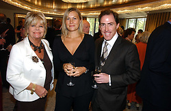 Left to right,  JUDITH CHALMERS and ROB & CLAIRE BRYDON at the Lady Taverners Tribute lunch in honour of Ronnie Corbett held at The Dorchester Hotel, Park Lane, London on 3rd November 2006.<br /><br />NON EXCLUSIVE - WORLD RIGHTS