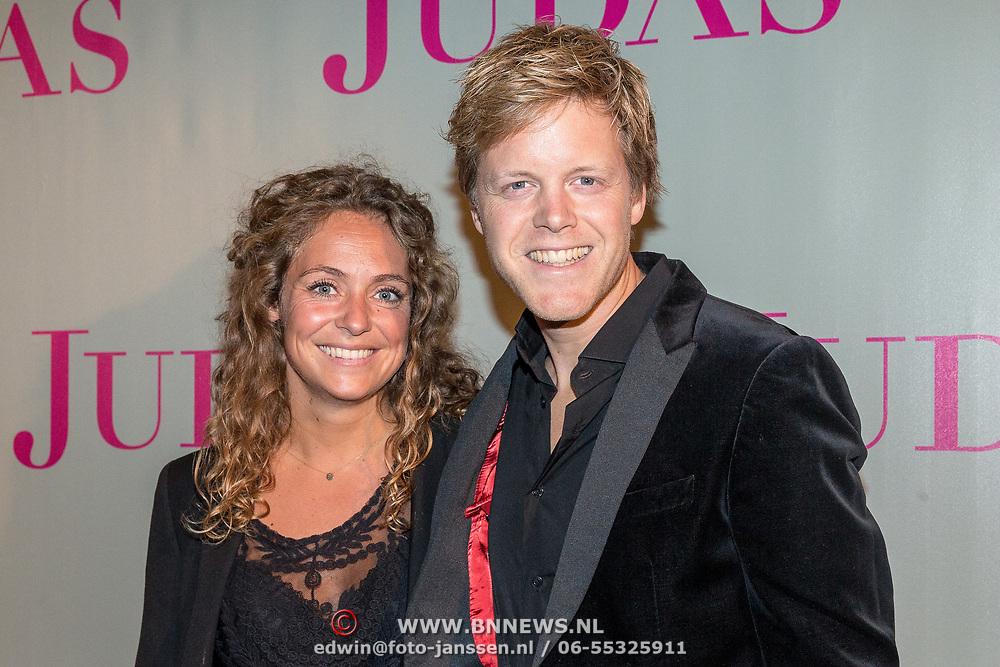 NLD/Amsterdam/20180920 - Premiere Judas, Lex Uiting met zijn vriendin