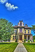 03 August 2013:  <br /> David Davis Mansion in Bloomington Illinois<br /> <br /> This image was produced in part utilizing High Dynamic Range (HDR) or panoramic stitching or other computer software manipulation processes. It should not be used editorially without being listed as an illustration or with a disclaimer. It may or may not be an accurate representation of the scene as originally photographed and the finished image is the creation of the photographer.