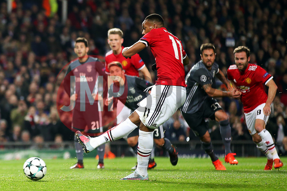 Anthony Martial of Manchester United misses a penalty - Mandatory by-line: Matt McNulty/JMP - 31/10/2017 - FOOTBALL - Old Trafford - Manchester, England - Manchester United v Benfica - UEFA Champions League Group A