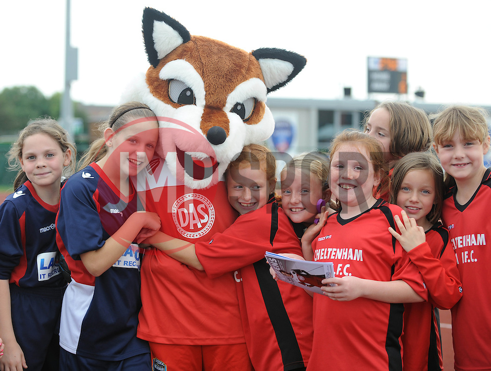 Fans with vixen - Photo mandatory by-line: Dougie Allward/JMP - Mobile: 07966 386802 - 28/09/2014 - SPORT - Women's Football - Bristol - SGS Wise Campus - Bristol Academy Women's v Manchester City Women's - Women's Super League
