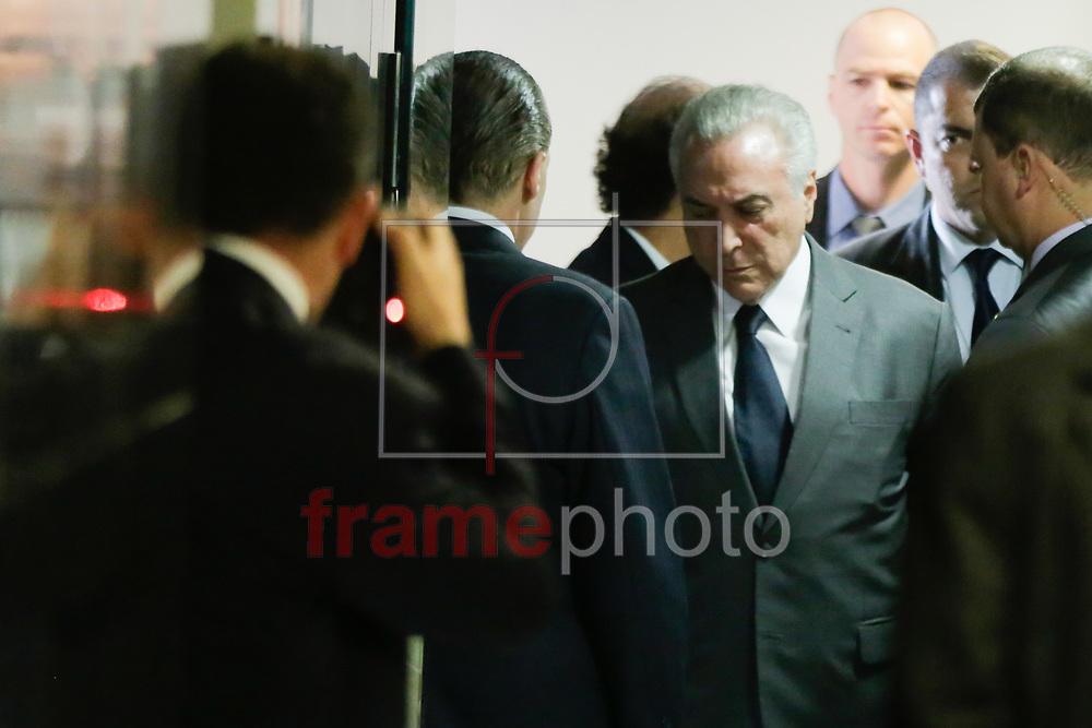 O Presidente da República, Michel Temer, em Cerimônia de apresentação dos Oficiais Generais promovidos. Nesta segunda-feira (14), no Palácio do Planalto , em Brasília. Foto: Walterson Rosa/Framephoto