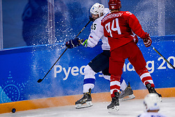 16-02-2018 KOR: Olympic Games day 7, PyeongChang<br /> Ice Hockey Russia (OAR) - Slovenia / defenseman Blaz Gregorc #15 of Slovenia, forward Alexander Barabanov #94 of Olympic Athlete from Russia