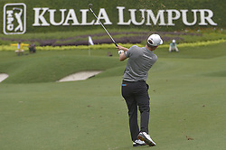 October 14, 2018 - Kuala Lumpur, Malaysia - Emiliano Grillo of Argentina plays a shot during the final round of CIMB Classic golf tournament in Kuala Lumpur, Malaysia on October 14, 2018. (Credit Image: © Zahim Mohd/NurPhoto via ZUMA Press)