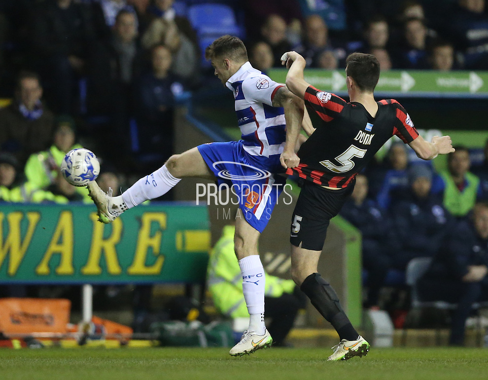 Reading striker Jamie Mackie during the Sky Bet Championship match between Reading and Brighton and Hove Albion at the Madejski Stadium, Reading, England on 10 March 2015.
