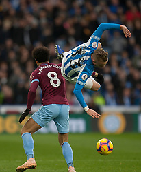 Felipe Anderson of West Ham United (L) and Florent Hadergjonaj of Huddersfield Town in action - Mandatory by-line: Jack Phillips/JMP - 10/11/2018 - FOOTBALL - The John Smith's Stadium - Huddersfield, England - Huddersfield Town v West Ham United - English Premier League