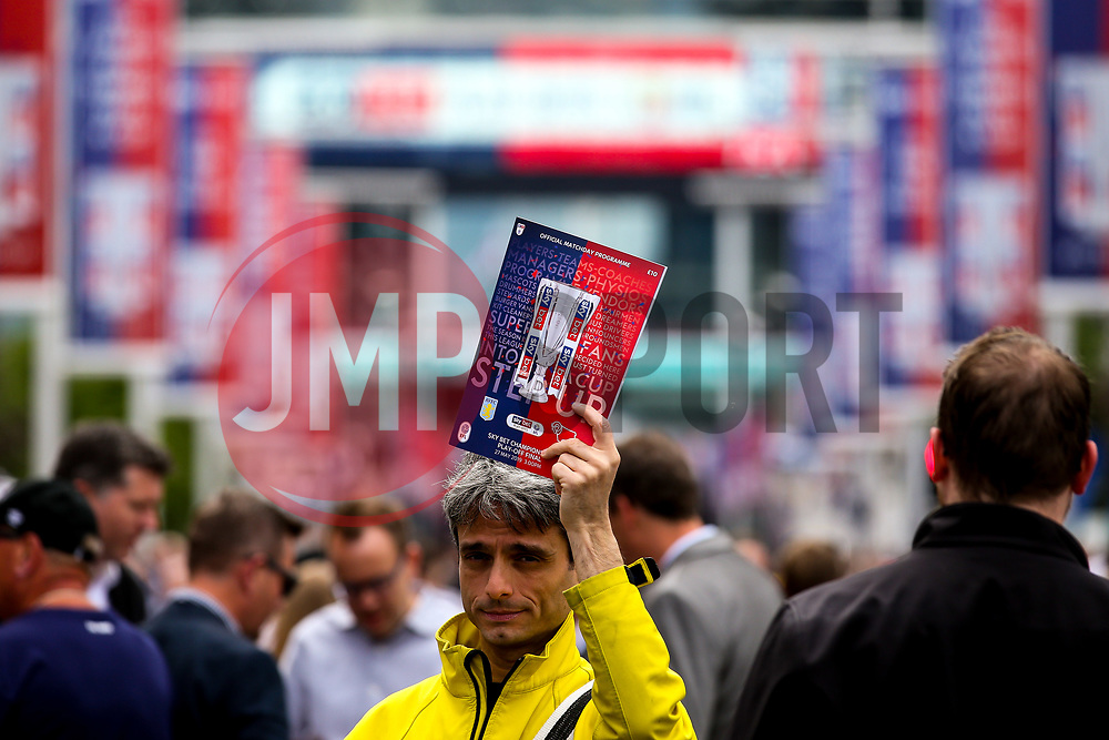 Programme Seller ahead of the Sky Bet Championship Playoff Final - Mandatory by-line: Robbie Stephenson/JMP - 27/05/2019 - FOOTBALL - Wembley Stadium - London, England - Aston Villa v Derby County - Sky Bet Championship Play-off Final