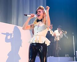 © Licensed to London News Pictures. 27/05/2014. London, UK.   Paloma Faith performing live at The Roundhouse.   In this picture - Paloma Faith.  Paloma Faith is an English singer-songwriter and actress who is touring to promote her third studio album 'A Perfect Contradiction', released n the 10th March 2014.  Photo credit : Richard Isaac/LNP