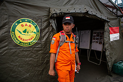 November 2, 2018 - North Jakarta, Jakarta, Indonesia - Search and Rescue team activity at Tanjung Priok Harbour-Jakarta. Indonesian Search and Rescue team known as ''BASARNAS'' work silmutanously in searching for the victim of the Lion Air Plane crash and finding fuselage of the plane helped by Indonesian Millitary. (Credit Image: © Donal Husni/ZUMA Wire)