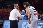Ettore Messina, Ariel Filloy<br /> Nazionale Italiana Maschile Senior<br /> Eurobasket 2017 - Final Phase - 1/4 Finals<br /> Italia Serbia Italy Serbia<br /> FIP 2017<br /> Istanbul, 13/09/2017<br /> Foto M.Ceretti / Ciamillo - Castoria