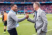 ROTTERDAM - 30-04-2017, AZ - Vitesse, finale KNVB beker, Stadion De Kuip, Vitesse trainer coach Henk Fraser, AZ trainer John van den Brom