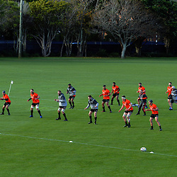 The All Blacks warm up during the 2017 DHL Lions Series All Blacks rugby training session at Hutt Rec in Lower Hutt, New Zealand on Tuesday, 27 June 2017. Photo: Dave Lintott / lintottphoto.co.nz