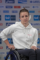 March 1, 2019 - Tokyo, Tokyo, Japan - SCHAR Manuela (SUI) Wheelchair Athletes speaks during a press conference ahead of the Tokyo Marathon in Tokyo on March 1, 2019. The annual Tokyo Marathon will be held on March 3. Tokyo Marathon 2019, press conference, Japan, SCHAR Manuela  (Credit Image: © Alessandro Di Ciommo/NurPhoto via ZUMA Press)
