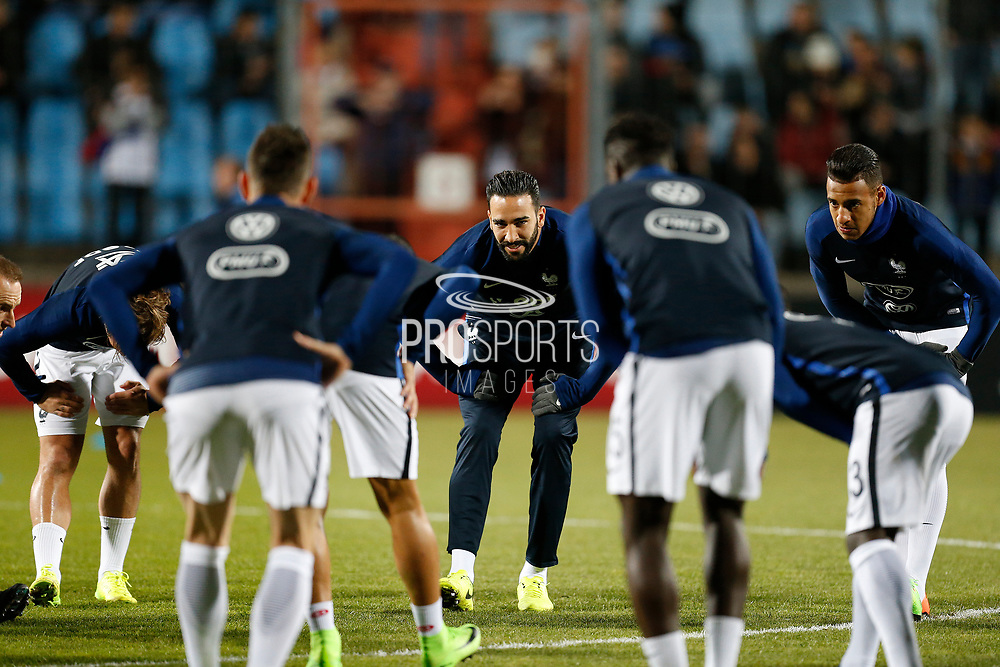 France's defender Adil Rami trains during the FIFA World Cup 2018 qualifying football match, Group A, between Luxembourg and France on March 25, 2017 at Josy Barthel stadium in Luxembourg - Photo Benjamin Cremel / ProSportsImages / DPPI