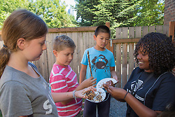 United States, Washington, Bellevue, Nature Camp at Bellevue Boys and Girls Club