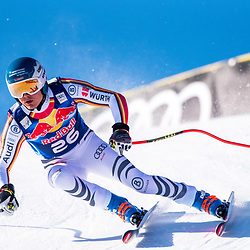 Manuel Schmid of Germany at the Ski Alpin: 80. Hahnenkamm Race 2020 - Audi FIS Alpine Ski World Cup - Men's Downhill Training at the Streif on January 22, 2020 in Kitzbuehel, AUSTRIA. (Photo by Horst Ettensberger/ESPA/CSM/Sipa USA) - Kitzbuhel (Autriche)