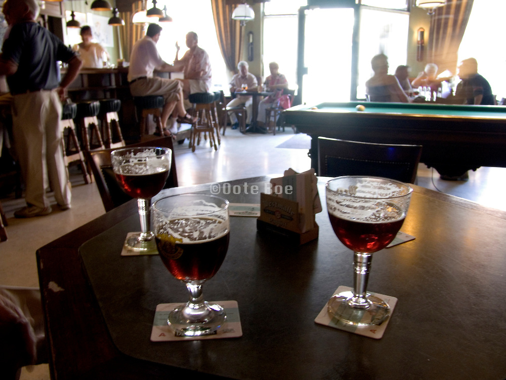 Belgium bar on a sunny Sunday afternoon
