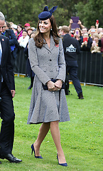 The Duchess of Cambridge leaving the ANZAC Day March and Commemorative Service at the Australian War Memorial in Canberra, Australia, Friday, 25th April 2014. Picture by Stephen Lock / i-Images