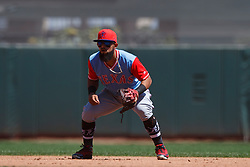 SAN FRANCISCO, CA - AUGUST 26: Rougned Odor #12 of the Texas Rangers stands on the field during the third inning against the San Francisco Giants at AT&T Park on August 26, 2018 in San Francisco, California. The San Francisco Giants defeated the Texas Rangers 3-1. All players across MLB will wear nicknames on their backs as well as colorful, non-traditional uniforms featuring alternate designs inspired by youth-league uniforms during Players Weekend. (Photo by Jason O. Watson/Getty Images) *** Local Caption *** Rougned Odor