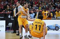 Basketball  1. Bundesliga  2016/2017  Hauptrunde  12. Spieltag  04.12.2016 Walter Tigers Tuebingen - ratiopharm Ulm JUBEL Tigers; Jared Jordan (li) und Alvaro Munoz