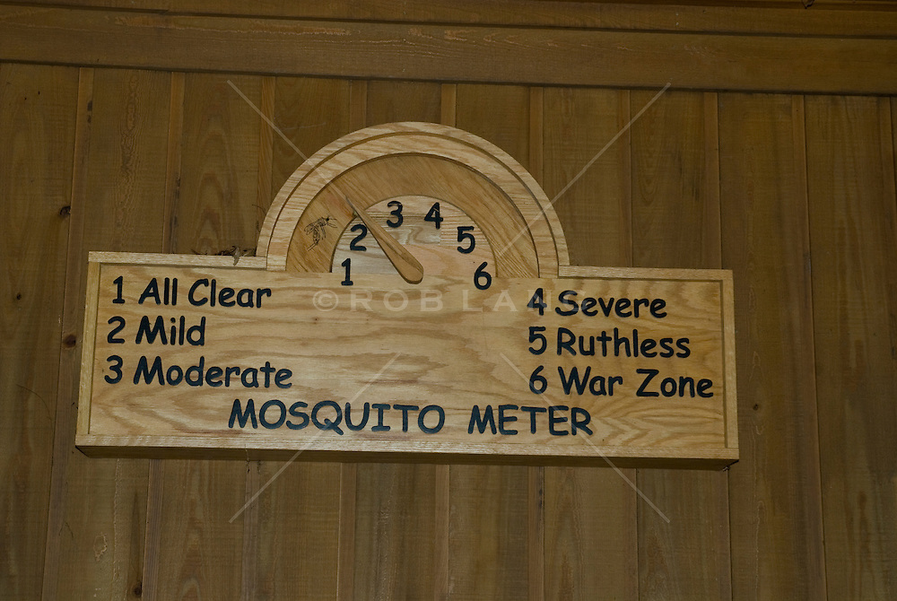Detail Of A Wooden Mosquito Meter On A Wall