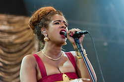 © Licensed to London News Pictures. 18/07/2014. Southwold, UK.   Kelis performing live at Latitude Festival 2014 on Day 1.  The Latitude Festival is a British annual music festival.  Photo credit : Richard Isaac/LNP