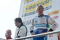 #99 Jason Plato GBR Subaru Team BMR Subaru Levorg GT on the podium after race three  during the BTCC Oulton Park 4th-5th June 2016 at Oulton Park, Little Budworth, Cheshire, United Kingdom. June 05 2016. World Copyright Peter Taylor/PSP.