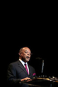 24 January 2011- Harlem, NY- Dr. Henry Louis Gates at The Schomburg Center's 85th Anniversary Gala Celebration held at Aaron Davis Hall  on The City College Campus, January 24, 2011 in the Village of Harlem, New York City.  Photo Credit: Terrence Jennings