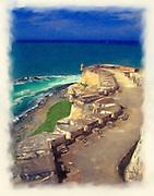 Saint Barbara bastion of El Morro painting