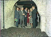 24/08/1984<br /> 08/24/1984<br /> 24 August 1984<br /> Opening of ROSC '84 at the Guinness Store House, Dublin. Minister of State for Arts and Culture Ted Nealon; Lord Iveagh; Mrs Maeve Hillery and  President Patrick Hillery are entertained by  Mr Pat Murphy (second from left) ROSC Chairman, at the exhibition opening.