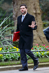 © Licensed to London News Pictures. 27/01/2015. LONDON, UK. Welsh Secretary Stephen Crabb attending to a cabinet meeting in Downing Street on Tuesday, 27 January 2015. Photo credit: Tolga Akmen/LNP