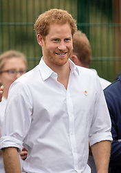 STOCKPORT-  UK  -21st June 2016: Prince Harry  joins an RFU-backed community rugby programme in Alexandra Park Stockport on , as he continues to develop his involvement in initiatives that use the power of sport for social development.<br /> Photo by Ian Jones